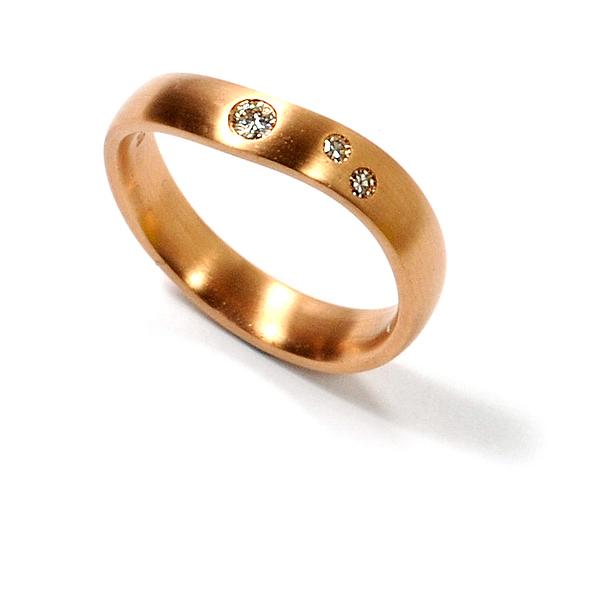 Verlobungsring Rotgold Brillanten (1005075)