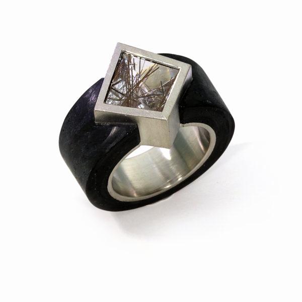 Ring Quarz Carbonring Palladium (250019)